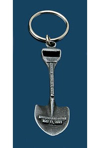 Custom Ceremonial Shovel Antiqued Keychain